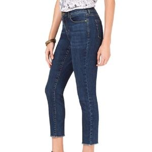 Style&co Cropped Fray Hem Skinny Jeans